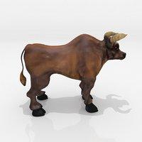 bull animation 3D model