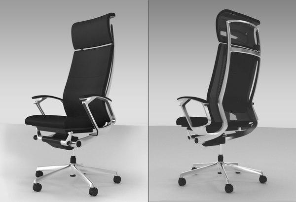 3D chair office okamura