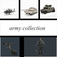 3D sikorsky military humvee army model