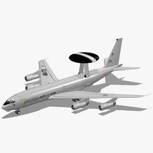 3D e-3a sentry nato e-3 model