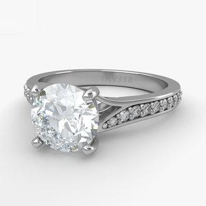 3D engagement ring diamond