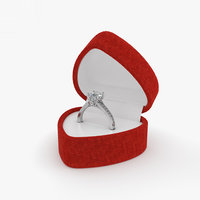 ring box diamond 3D model
