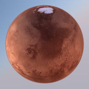 3D model mars 24k planet