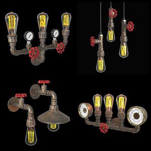 pipe lamps model