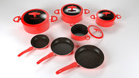 Cookware pots and pans set