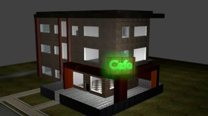 panel house architectural 3D model