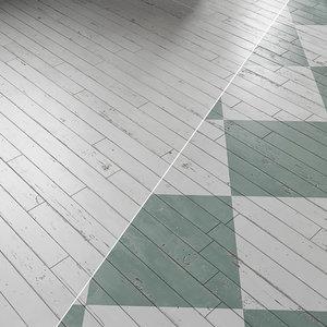 white old parquet 3D model
