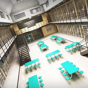 3D prison architecture jail
