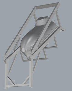3D liferaft model