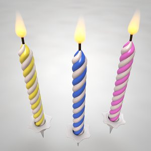 3D birthday candles