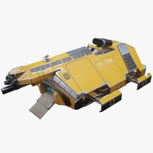 cargo spaceship space 3D model