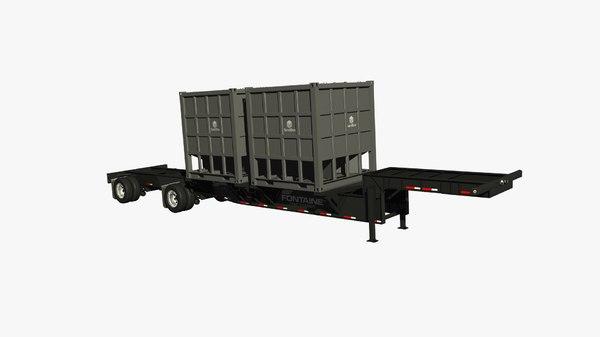 frap sand chassis trailer 3D model