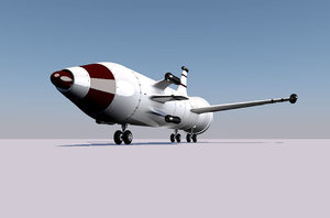 3D aircraft bomb bomba aerea model