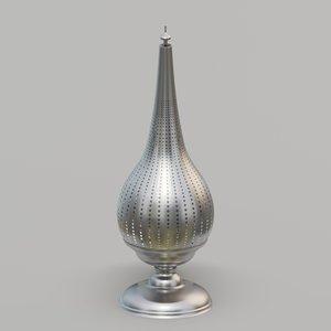 3D lamp metal lantern