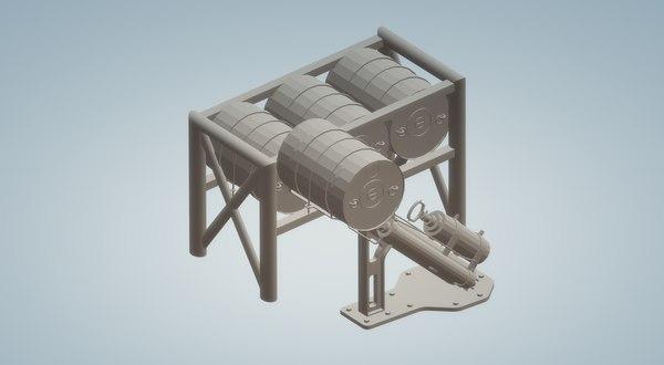 depth charge launcher 3D