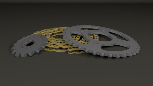 3D model chain sprocket kit