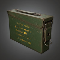 Ammo Container Box 01 - MLT - PBR Game Ready