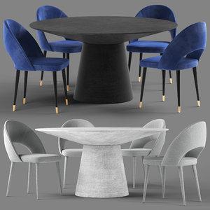 3D globewest lyla chair livorno model
