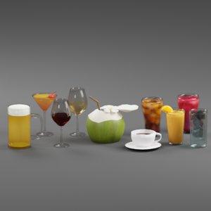 3D model beverage drink