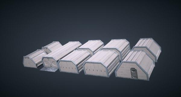 pbr mars kitbash - 3D model