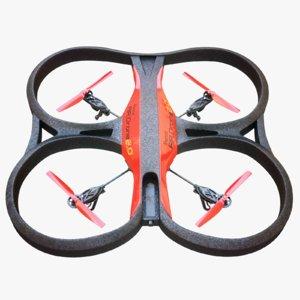 3D model quads drone