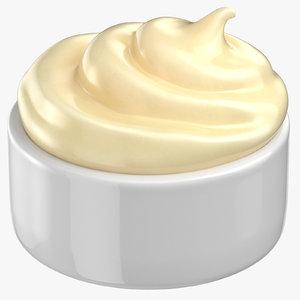 mayonnaise sauce cup 3D model