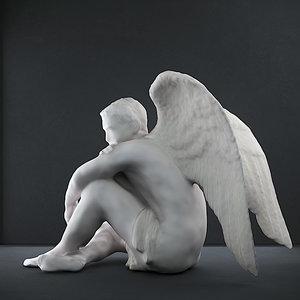 male angel 3D model