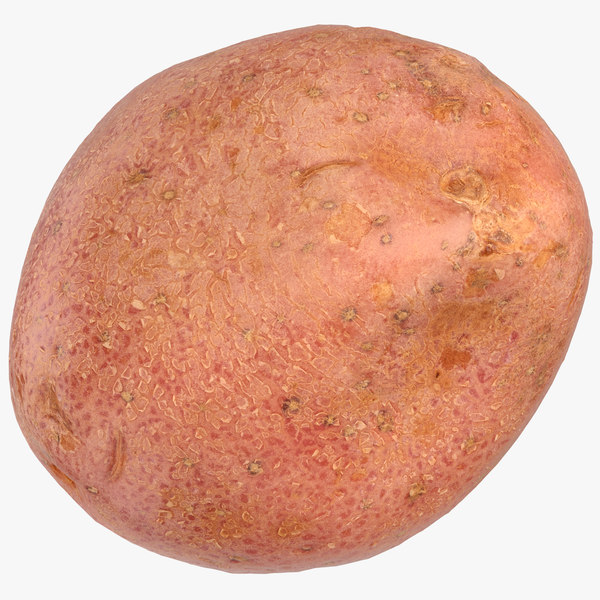 3D red potato 02 ready model