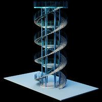 3D spiral step