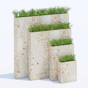 plywood wood 3D model
