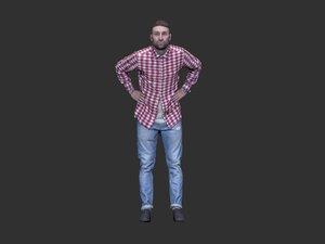 man scan human 3D