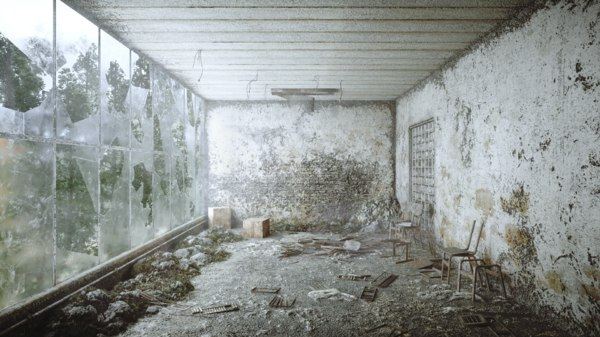 3D model chernobyl abandoned room