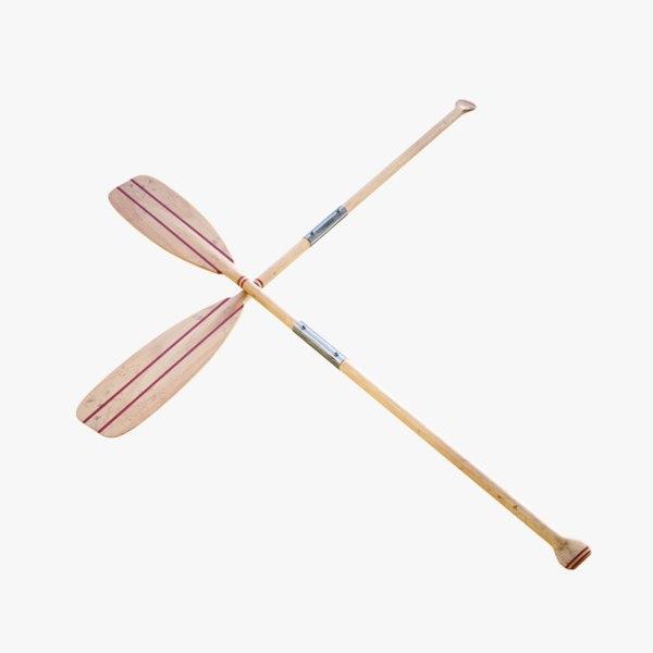 lightwave wood oar 3D model