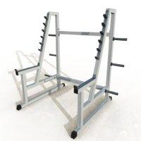 3D squat rack