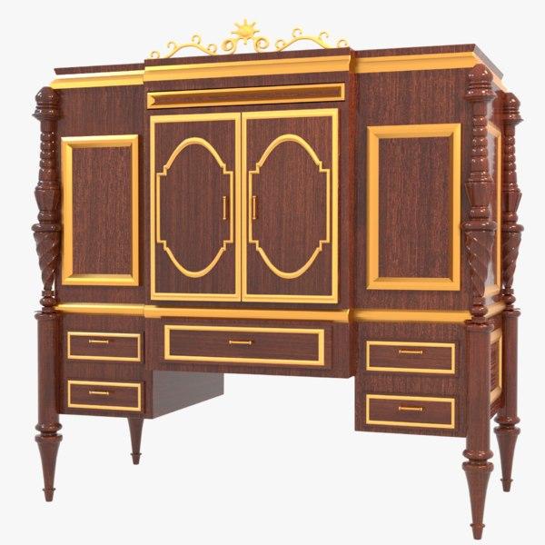vintage wooden cabinet drawers model