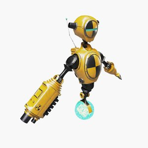 robot test dummy 3D model