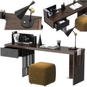3D scriba desk molteni model