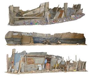 african slums pack 3 3D model