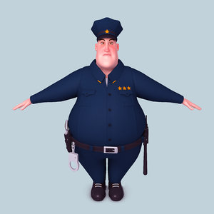 3D cartoon policeman