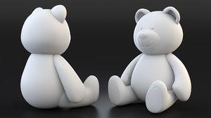 3D model bear animation