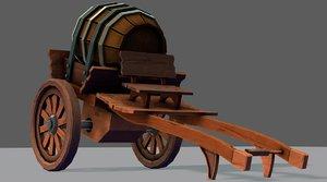 3D model medieval cartv02