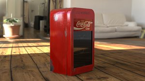 old coke fridge 3D model