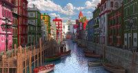 Fantasy Street Water Town