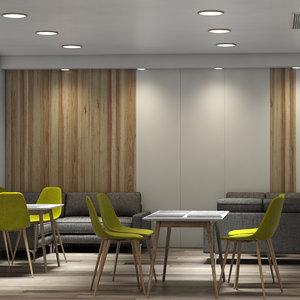 3D waiting room hallway