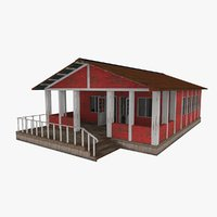 russian hut building 3D model