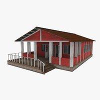russian hut building 3D model