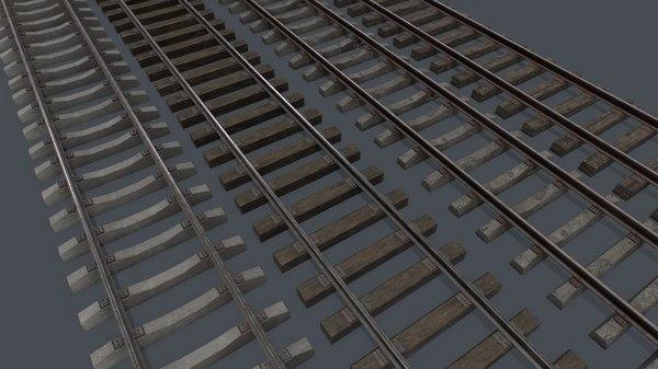 pbr railway track 3D model