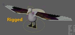 gull seagull sea 3D model