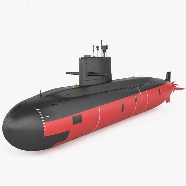 type 039a submarine 3D model