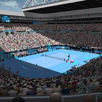 3D rod laver arena stadium